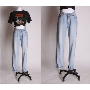 1990s High Waisted Denim Mom Jeans